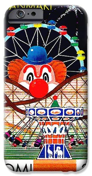 Pleasure iPhone Cases - Linnanmaki amusement park iPhone Case by Lanjee Chee