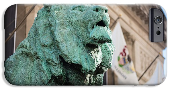Lion Art iPhone Cases - Lion Art Institute iPhone Case by Steve Gadomski