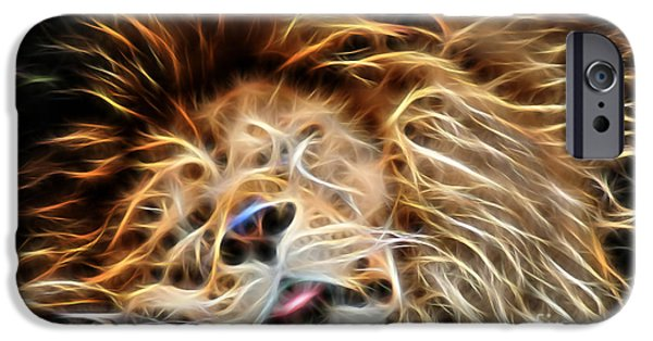 Lion iPhone Cases - Lion Sleeps Tonight iPhone Case by Marvin Blaine