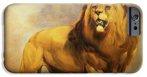 Lion iPhone Cases - Lion  iPhone Case by William Huggins