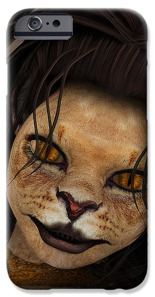 Lioness iPhone Case by Jutta Maria Pusl