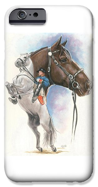 The Horse iPhone Cases - Lippizaner iPhone Case by Barbara Keith