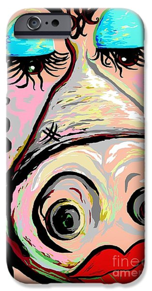 Politician iPhone Cases - Lipstick on a Pig iPhone Case by Eloise Schneider