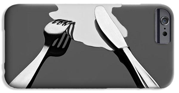 Surrealism iPhone Cases - Liquid Food iPhone Case by Gert Lavsen