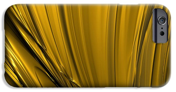 Abstract Digital iPhone Cases - Liquid Gold iPhone Case by Sharon Martin