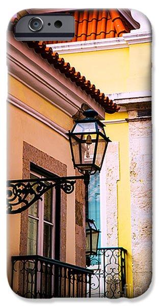 Balcony iPhone Cases - Lisbon Balconies iPhone Case by Rick Bragan
