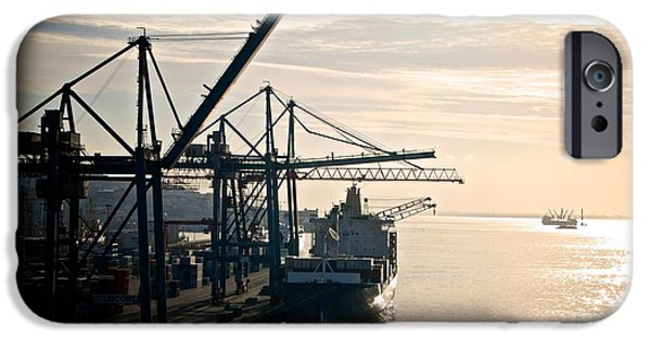 Industry iPhone Cases - Lisbon Harbor iPhone Case by Eric Tressler