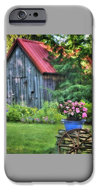 Roof iPhone Cases - Litchfield Hills Summer Scene iPhone Case by Thomas Schoeller