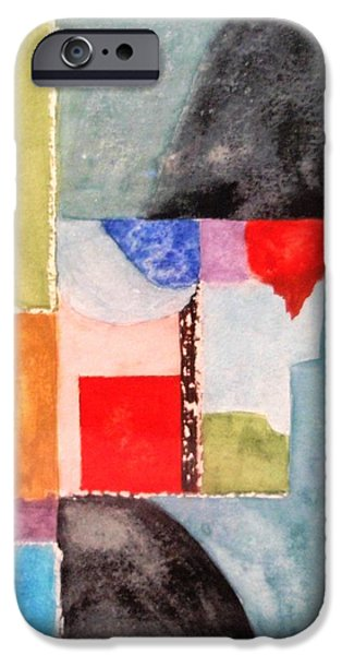 Free Form Paintings iPhone Cases - Little Abstract iPhone Case by Jamie Frier