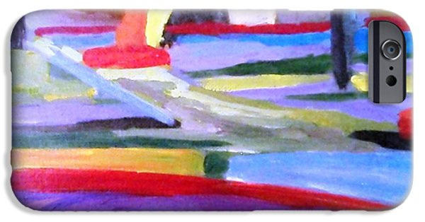 Free Form Paintings iPhone Cases - Little Acrylic iPhone Case by Jamie Frier
