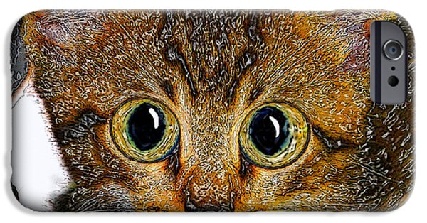 Little iPhone Cases - Little Big Eyes iPhone Case by David Lee Thompson