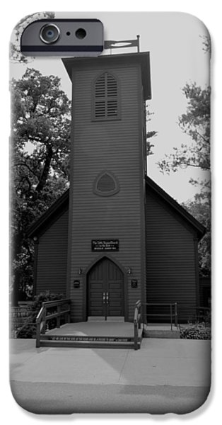 Little iPhone Cases - Little Brown Church iPhone Case by Bonfire Photography