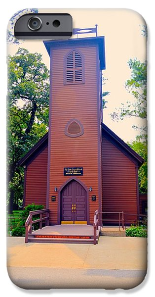 Little iPhone Cases - Little Brown Church Two iPhone Case by Bonfire Photography