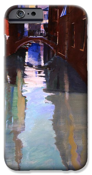 Venetian Canals iPhone Cases - Little Canal iPhone Case by Simon Fletcher