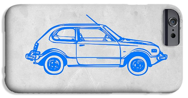 Modernism iPhone Cases - Little Car iPhone Case by Naxart Studio