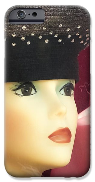 Lips iPhone Cases - Little Clare Store Window Mannequin iPhone Case by Melissa Bittinger