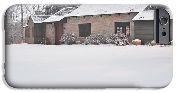 Snow iPhone Cases - Winter Cottage iPhone Case by Jason Davies