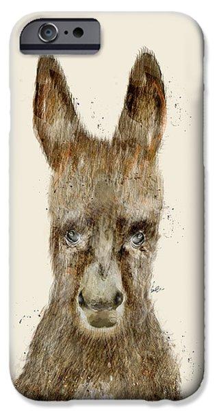 Donkey Digital Art iPhone Cases - Little Donkey iPhone Case by Bri Buckley