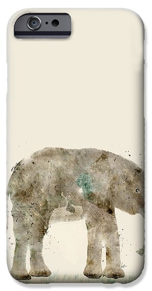 Elephant iPhone Cases - Little Elephant iPhone Case by Bri Buckley