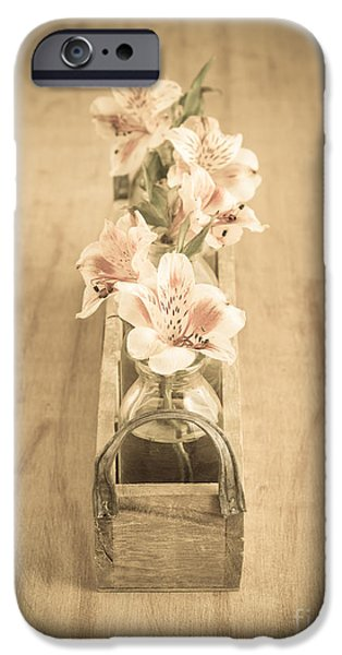 Little iPhone Cases - Little Flowers iPhone Case by Edward Fielding