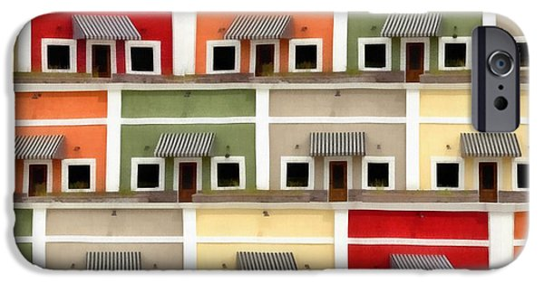 Colorful Abstract Photographs iPhone Cases - Little Houses iPhone Case by Edward Fielding