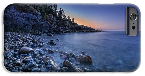 Maine Beach iPhone Cases - Little Hunters Beach iPhone Case by Rick Berk
