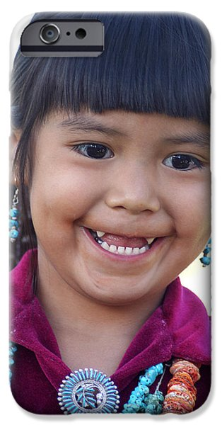 Missing Child iPhone Cases - Little Indian Girl iPhone Case by Carl Purcell