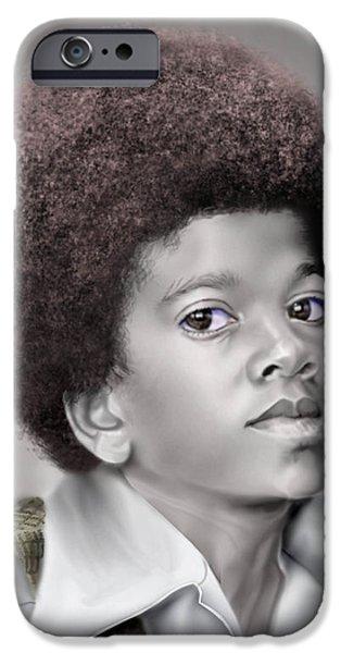 Little Michael iPhone Case by Reggie Duffie