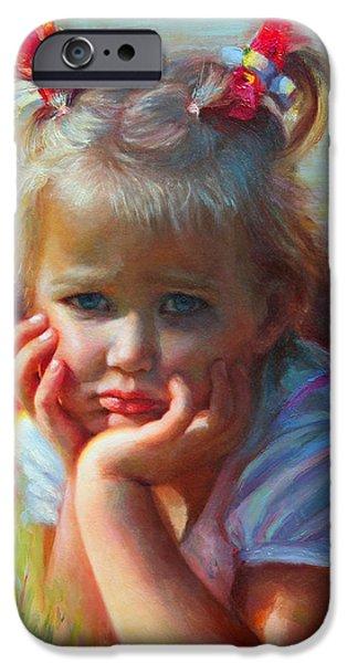 Little Miss Sunshine iPhone Case by Talya Johnson