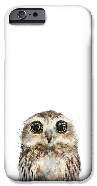 Recently Sold -  - Little iPhone Cases - Little Owl iPhone Case by Amy Hamilton