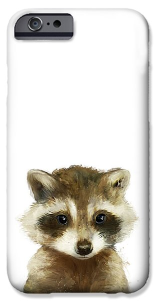 Recently Sold -  - Little iPhone Cases - Little Raccoon iPhone Case by Amy Hamilton