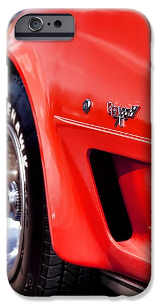 Indy Car iPhone Cases - Little Red Corvette iPhone Case by Gordon Dean II