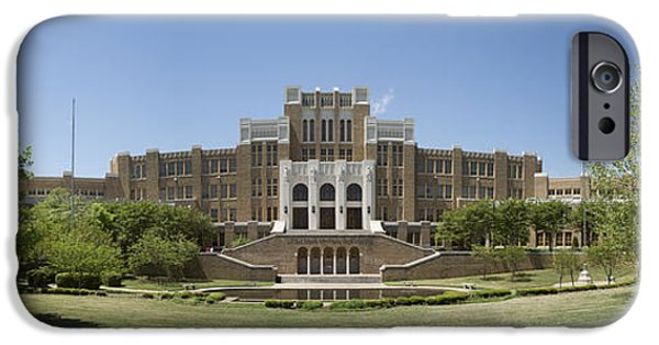 Historic Site iPhone Cases - Little Rock Central High Panoramic iPhone Case by Stephen Stookey