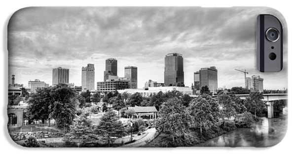 Arkansas iPhone Cases - Little Rock in Black and White iPhone Case by JC Findley