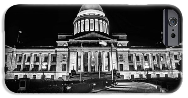 Arkansas iPhone Cases - Little Rock State Capitol Building iPhone Case by JC Findley