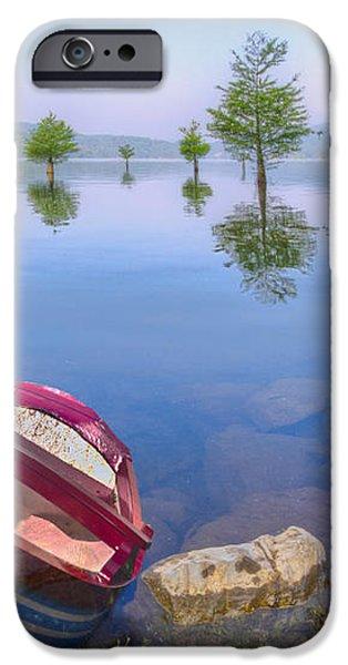 Little Rowboat iPhone Case by Debra and Dave Vanderlaan