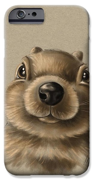 Child iPhone Cases - Little squirrel iPhone Case by Veronica Minozzi