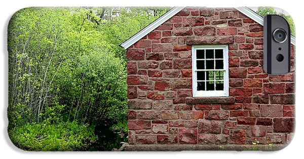 Little iPhone Cases - Little Stone House By The Brook iPhone Case by Marcel  J Goetz  Sr
