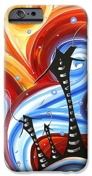 Little Village by MADART iPhone Case by Megan Duncanson