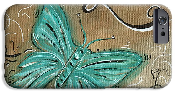 Madart iPhone Cases - Live and Love Butterfly by MADART iPhone Case by Megan Duncanson