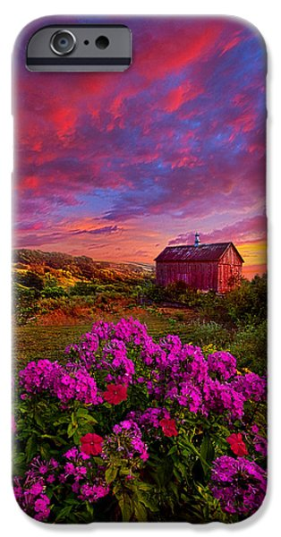 Crops iPhone Cases - Live In The Moment iPhone Case by Phil Koch