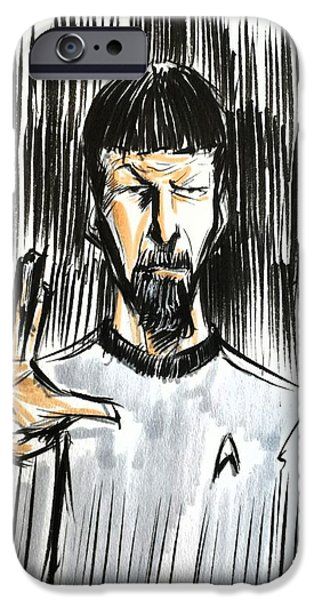 Enterprise Mixed Media iPhone Cases - Live Long and Prosper...... iPhone Case by Tu-Kwon Thomas