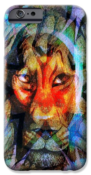 Yesayah Mixed Media iPhone Cases - Living Among Lions iPhone Case by Fania Simon