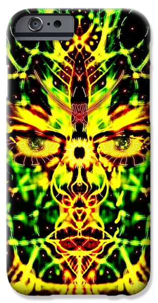 Gaia Digital iPhone Cases - Living Face of Gaia iPhone Case by Michael African Visions