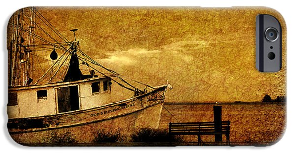 Boats In Water iPhone Cases - Living in the past iPhone Case by Susanne Van Hulst