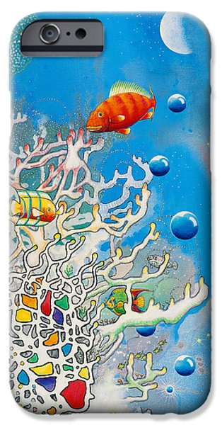 Abstract Seascape iPhone Cases - Lizas Reef iPhone Case by Lee Pantas