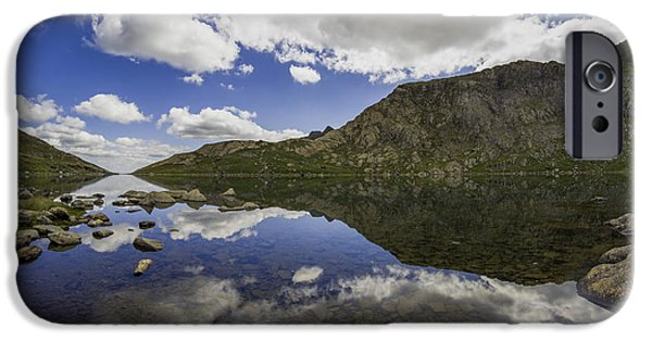 Floral Photographs iPhone Cases - Llyn Llydaw iPhone Case by Ian Mitchell
