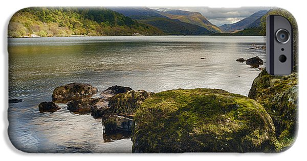 Stone Steps iPhone Cases - Llyn Padarn iPhone Case by Amanda And Christopher Elwell