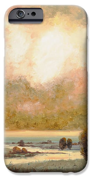 lo stagno sotto al cielo iPhone Case by Guido Borelli