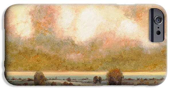 Ponds iPhone Cases - Lo Stagno Sotto Al Cielo iPhone Case by Guido Borelli